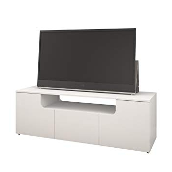 Nexera Tv Stands For Most Current Amazon: Arobas 600103 60 Inch Tv Stand From Nexera, White (View 12 of 20)
