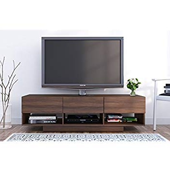 "Nexera Tv Stands Inside Fashionable Amazon: Nexera 105131 Rustik 3 Drawers Tv Stand, 60"", Walnut (Gallery 3 of 20)"