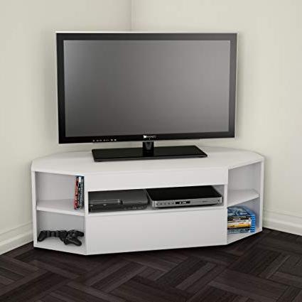 Nexera Tv Stands Regarding Widely Used Nexera 226103 Blvd Corner Tv Stand, White: Amazon.ca: Home & Kitchen (Gallery 20 of 20)