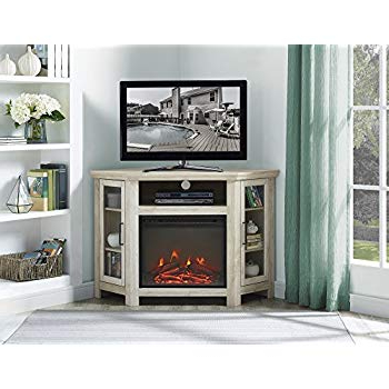 "Noah 75 Inch Tv Stands In Most Up To Date Amazon: We Furniture 48"" Wood Corner Fireplace Media Tv Stand (Gallery 15 of 20)"