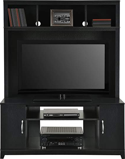 Noah Rustic White 66 Inch Tv Stands Regarding Preferred Amazon: Home Tv Stands Wood Entertainment Media Center For Flat (View 12 of 17)
