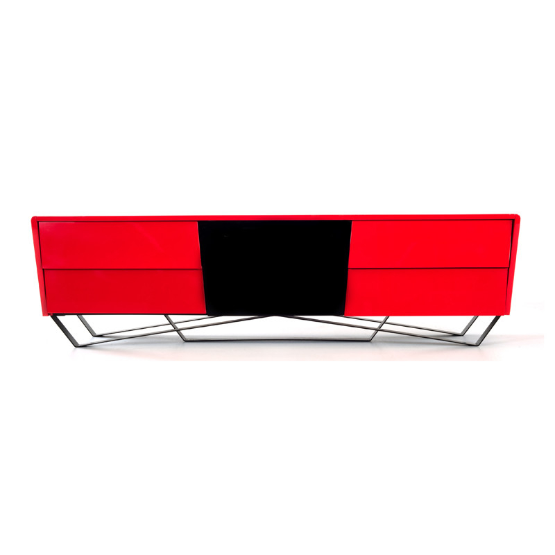 Nova Domus Max Modern Red Tv Stand Pertaining To Latest Red Modern Tv Stands (Gallery 9 of 20)