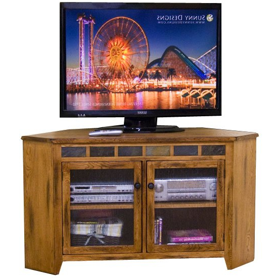 Oak Corner Tv Stands Throughout Recent 55 Inch Oak Corner Tv Stand – Sedona (Gallery 16 of 20)