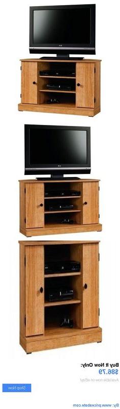 Oak Corner Tv Unit Regarding Santana Oak Tv Furniture (View 9 of 20)