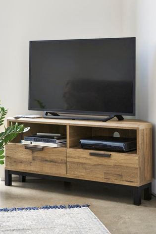 Oak Effect Corner Tv Stand Intended For Preferred Buy Bronx Light Corner Tv Stand From Next Lebanon (View 18 of 20)