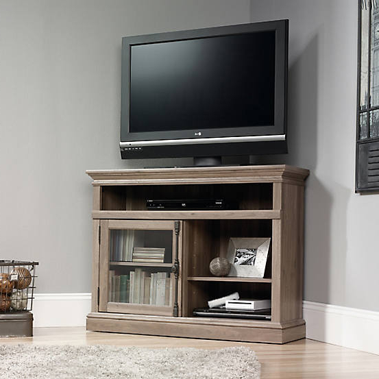 Oak Effect Corner Tv Stand Regarding Preferred Barrister Oak Effect Corner Tv Standteknik (View 8 of 20)