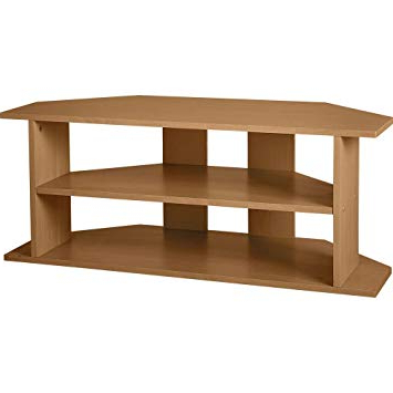 Oak Effect Corner Tv Stand Regarding Widely Used Home Large Corner Tv Unit – Oak Effect: Amazon.co.uk: Kitchen & Home (Gallery 6 of 20)