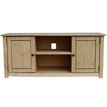 Oak Tv Cabinets For Flat Screens With Doors In Most Popular Home Discount Panama 2 Door 1 Shelf Flat Screen Tv Unit, Oak: Amazon (View 14 of 20)