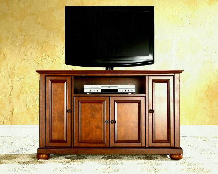 Oak Tv Cabinets For Flat Screens With Doors Pertaining To Preferred Solid Wood Tv Cabinets Oak Entertainment Center Console Stands For (View 10 of 20)