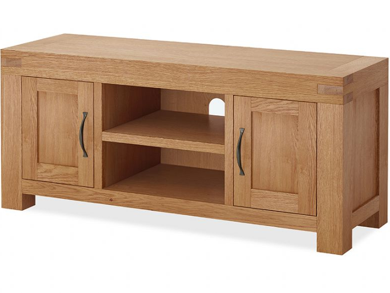 Oak Tv Cabinets With Doors Pertaining To Preferred Bromley Oak Tv Unit – Furniture Barn (Gallery 9 of 20)