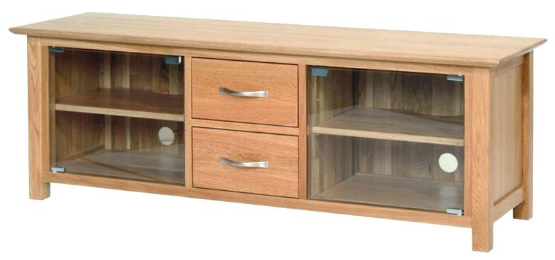 Oak Tv Stands With Glass Doors For Best And Newest Tv Stand With Glass Doors – Valleyofthebees (View 3 of 20)