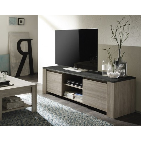 Oak Tv Stands With Most Popular Elba – Oak Tv Stand With Marmor Imitation Top – Tv Stands (1081 (Gallery 15 of 20)