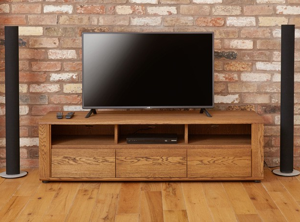Oak Widescreen Tv Units With Regard To Fashionable Tampa Oak Large Widescreen Tv Cabinet (Gallery 17 of 20)