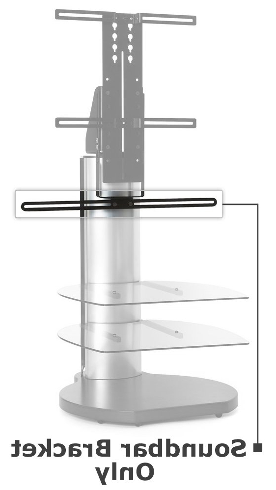 Off The Wall Soundbar Bracket Stand Accessory For Most Popular Bracketed Tv Stands (Gallery 18 of 20)