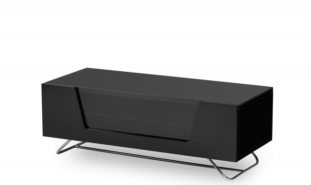 Omega – Black High Gloss Tv Unit – Fishpools Inside Latest Tv Units Black (Gallery 5 of 20)