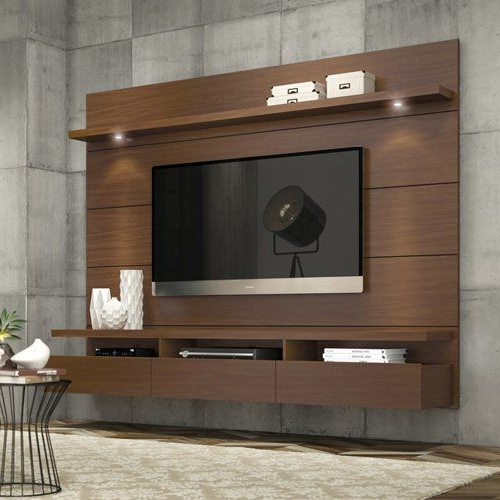 On The Wall Tv Units Inside 2017 Wooden Wall Tv Unit, Warranty: 1 Year, Rs 1800 /square Feet, Kitchen (View 13 of 20)