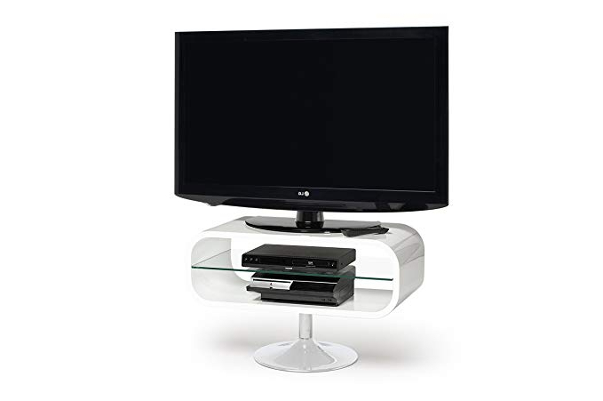 Opod Tv Stand White With Regard To Newest Opod Op80W – Lcd & Plasma Tv Stand Up To 37 – Gloss White: Amazon.co (Gallery 5 of 20)