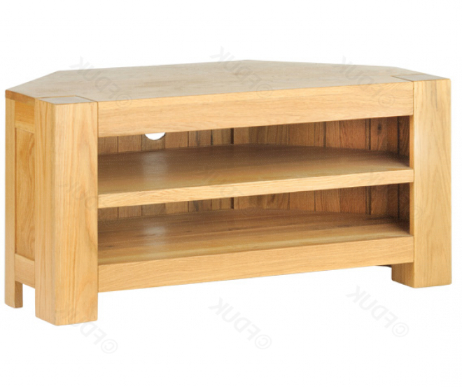 Opus Chunky Oak Corner Tv Unit (View 12 of 20)