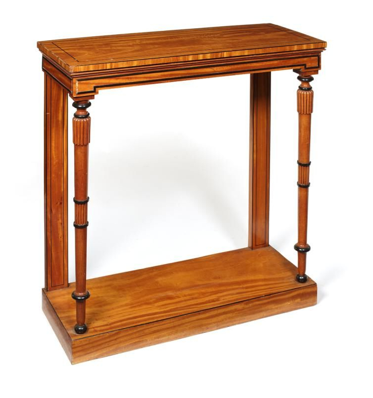 Orange Inlay Console Tables For Well Known A Regency Satinwood And Ebonised Console Table Inlaid With Ebony (View 7 of 20)