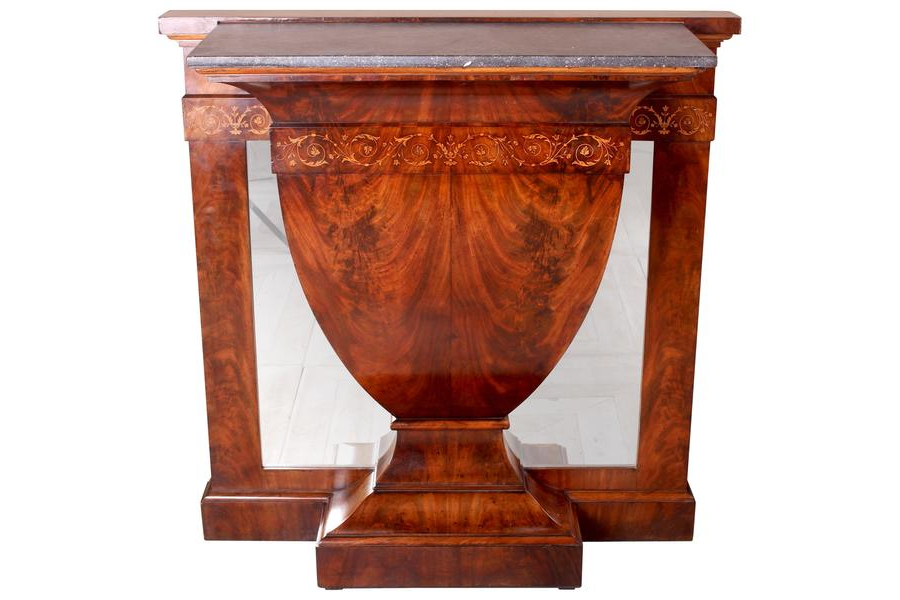 Orange Inlay Console Tables In Most Up To Date Continental Inlaid Mahogany Marble Topped Console Table Circa (View 10 of 20)