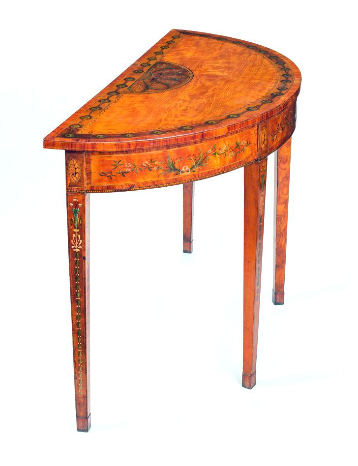 Orange Inlay Console Tables Within Preferred Orange Console Table Distressed Orange Blue Low Console Table (Gallery 5 of 20)