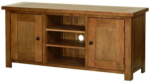 Original Rustic Oak Large Rustic Oak Tv Cabinet Bathroom Mirror With Regard To Fashionable Rustic Oak Tv Stands (View 15 of 20)