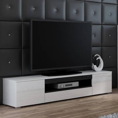 "Orren Ellis Tysen High Gloss Tv Stand For Tvs Up To 60"" & Reviews With Well Liked Maddy 70 Inch Tv Stands (View 17 of 20)"