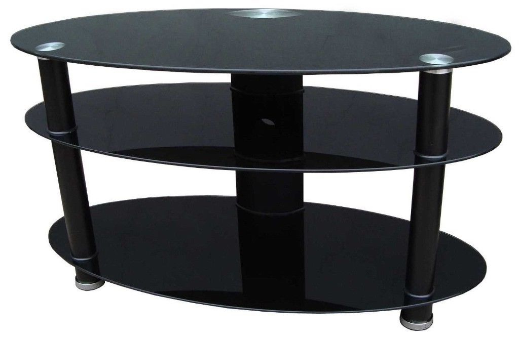 Oval Glass Tv Stand (Gallery 4 of 20)