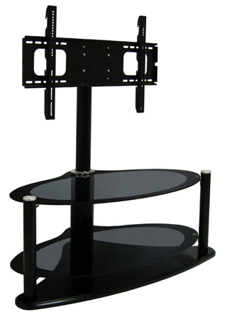 Oval Glass Tv Stands With Most Recently Released Rgb Zin421459Hyb, Universal Hybrid Oval Bolt On Glass Tv Stand For (Gallery 2 of 20)