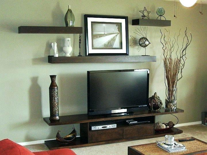Over Tv Shelves With Regard To Popular Shelf Over Floating Wall Shelves With Set Tv Tv03E 5 Above Three (Gallery 13 of 20)