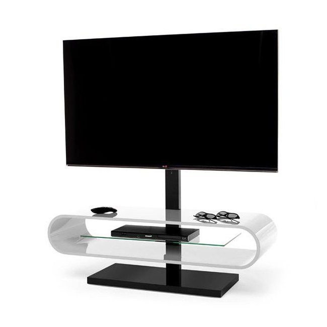 Ovid White Tv Stand Intended For Popular Techlink Ov120Tv O Series Ovid Evo Tv Stand (Gallery 15 of 20)