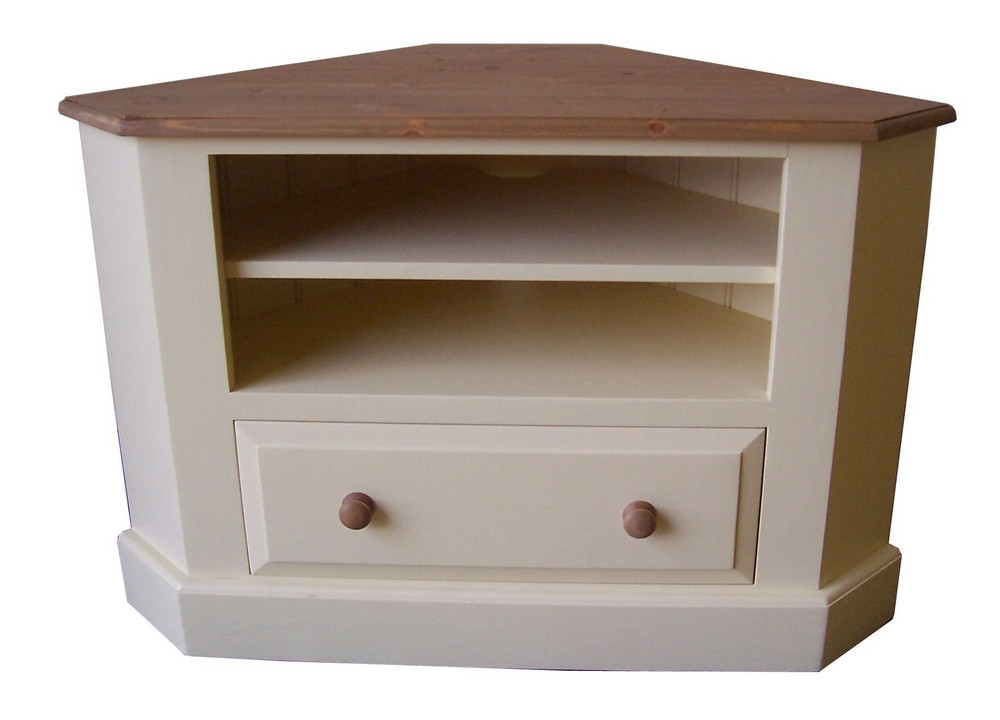 Painted Corner Tv Cabinets With Favorite Cheshire Corner Tv Unit With Drawer – Painted (View 17 of 20)