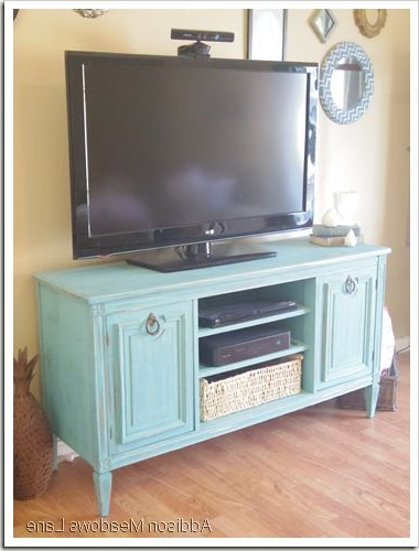 Painted Tv Stands Inside Favorite Buffet Repurposed Into A Tv Stand (View 2 of 20)