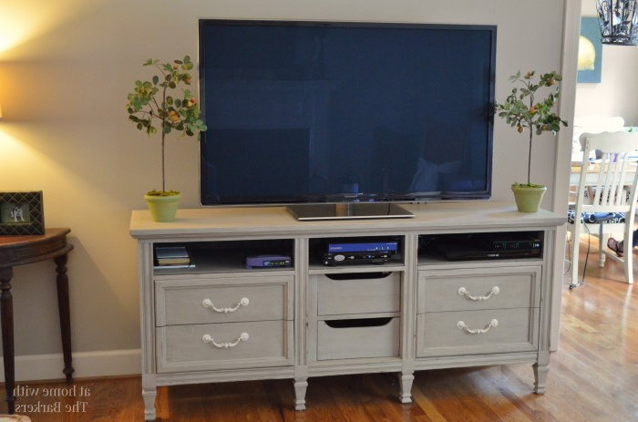 Painted Tv Stands Intended For Well Liked Tv Stand Makeover – At Home With The Barkers (View 6 of 20)