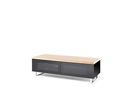 Panorama Tv Stands Regarding Most Current Amazon: Techlink Panorama Tv Stand High Gloss Base Light Oak Top (View 15 of 20)