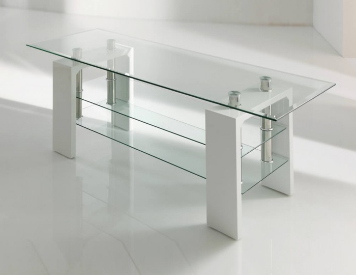 Parma White Glass Tv Stand Inside Recent White Glass Tv Stands (View 3 of 20)