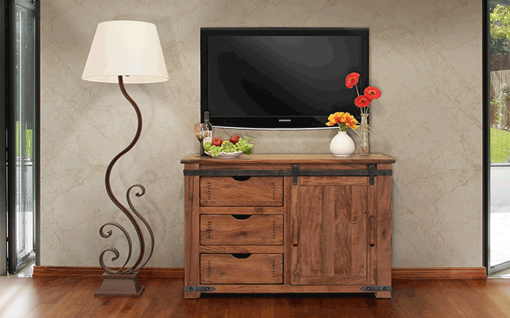 Parota 50 Inch Tv Stand At Gates Home Furnishings – Gates Furniture Within Trendy Wooden Tv Stands For 50 Inch Tv (View 10 of 20)