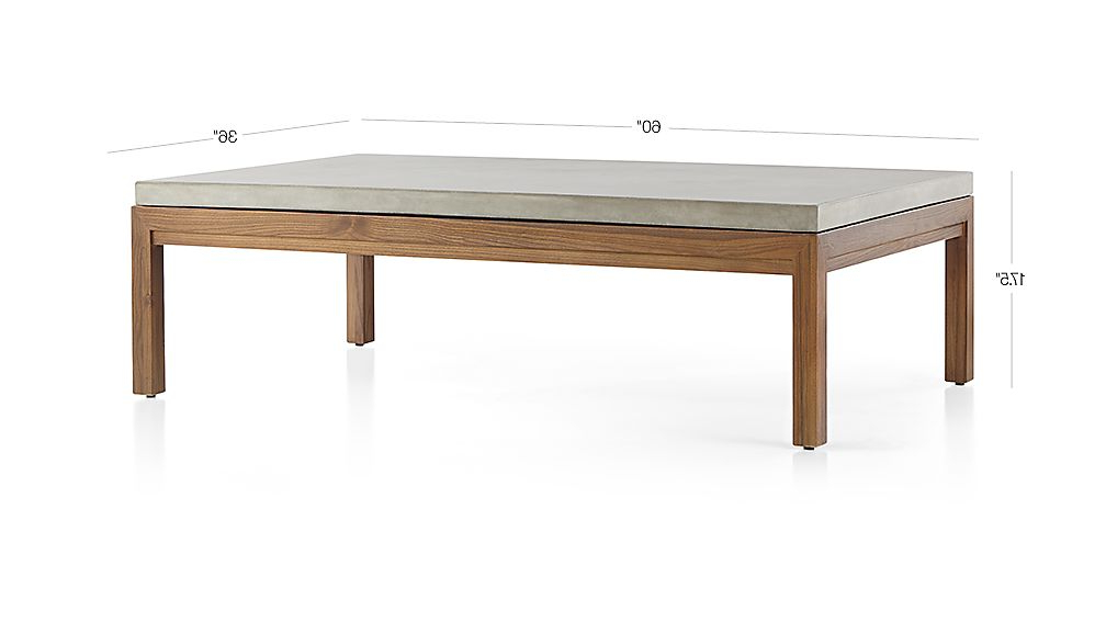 Parsons Concrete Top/ Elm Base 60x36 Large Rectangular Coffee Table Inside Well Known Parsons Concrete Top & Elm Base 48x16 Console Tables (View 13 of 20)