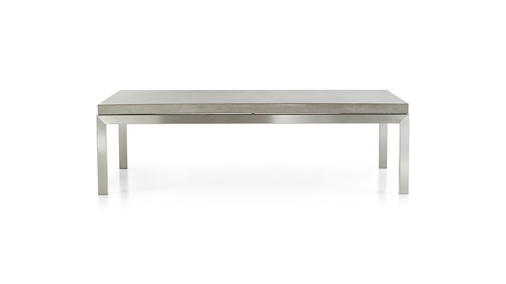 Parsons Concrete Top/ Stainless Steel Base 60X36 Large Rectangular Within Well Known Parsons Black Marble Top & Stainless Steel Base 48X16 Console Tables (View 15 of 20)