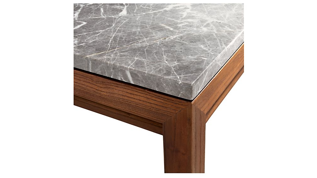 Parsons Grey Marble Top/ Elm Base 48X16 Console + Reviews (View 9 of 20)
