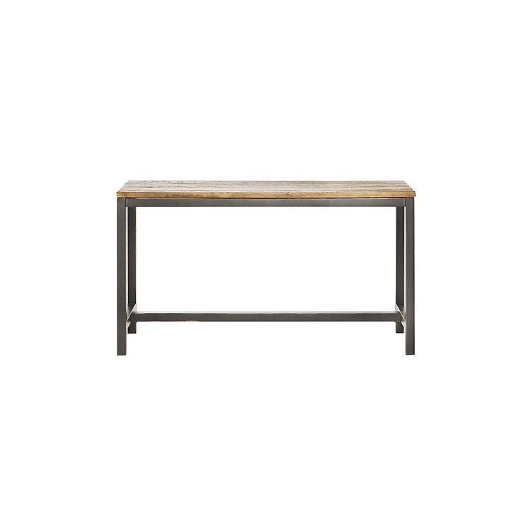 Parsons Grey Marble Top & Elm Base 48x16 Console Tables Within 2017 Worlds Away Clear Glass Tops 2 Tier Bronze Table Wa Domino Brz (View 7 of 20)