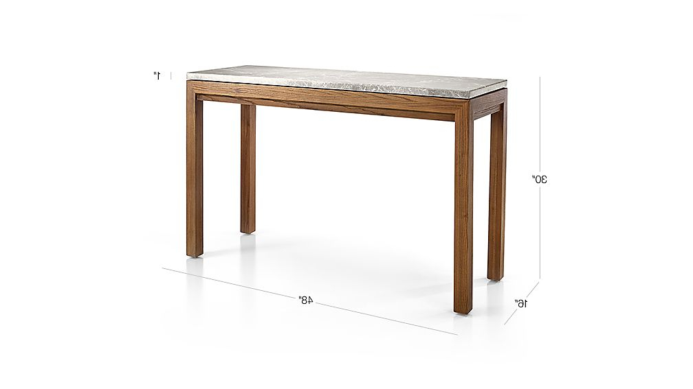 Featured Photo of Parsons Grey Marble Top & Elm Base 48X16 Console Tables