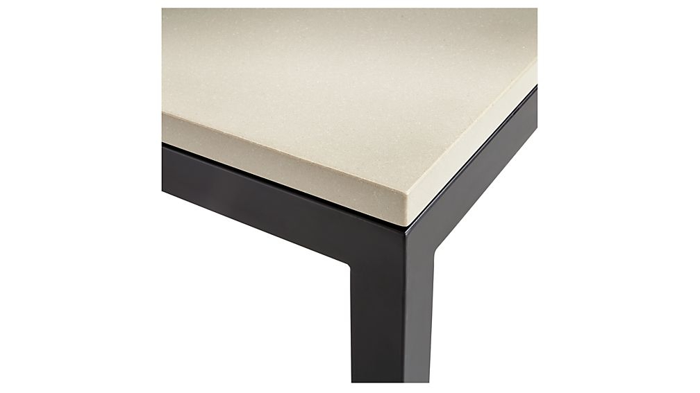Featured Photo of Parsons Grey Solid Surface Top & Dark Steel Base 48X16 Console Tables