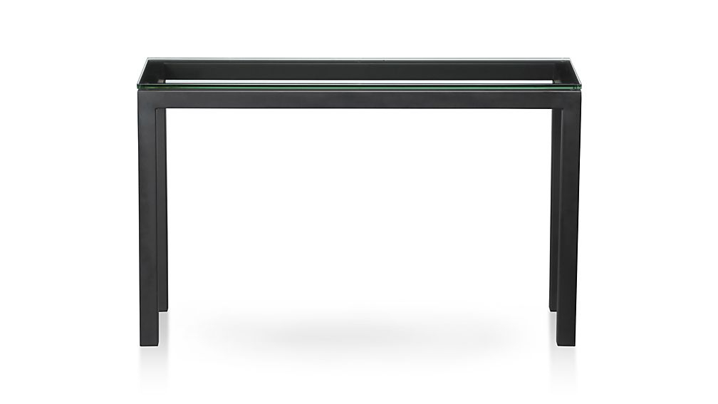 Parsons Grey Solid Surface Top & Dark Steel Base 48X16 Console Tables Pertaining To Well Known Parsons Console Table (View 11 of 20)