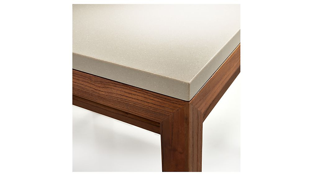 Parsons Grey Solid Surface Top/ Elm Base 48x28 Small Rectangular Throughout Best And Newest Parsons Grey Solid Surface Top & Brass Base 48x16 Console Tables (View 8 of 20)