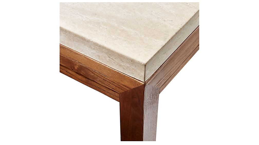 Parsons Travertine Top & Elm Base 48x16 Console Tables Inside Recent Parsons Travertine Top/ Elm Base 48x16 Console + Reviews (View 8 of 20)
