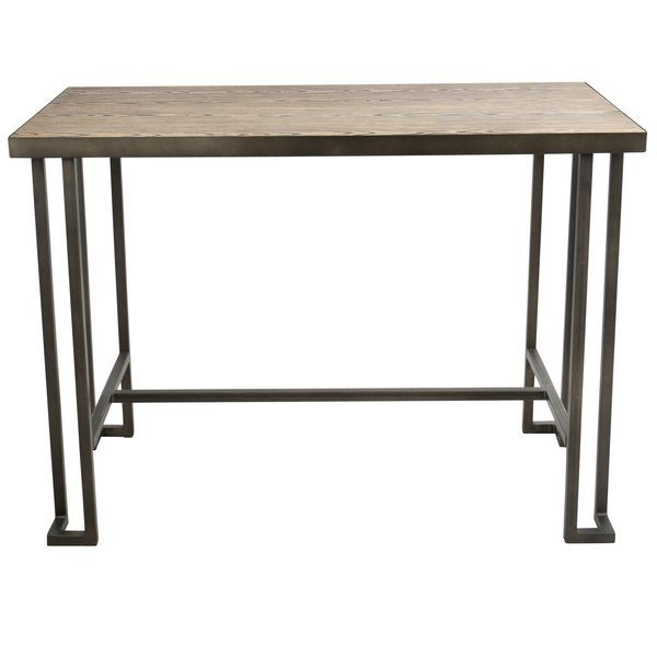 Parsons Walnut Top & Brass Base 48X16 Console Tables Intended For Widely Used Calistoga Counter Height Dining Table (View 13 of 20)