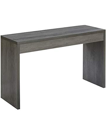 Parsons Walnut Top & Dark Steel Base 48x16 Console Tables Intended For Favorite Sofa & Console Tables (View 16 of 20)