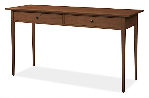 Parsons Walnut Top & Elm Base 48X16 Console Tables Regarding Most Popular Adams Console Tables (View 14 of 20)