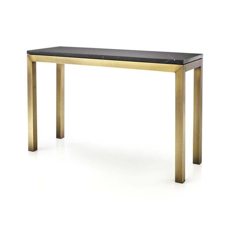 Featured Photo of Parsons White Marble Top & Brass Base 48X16 Console Tables